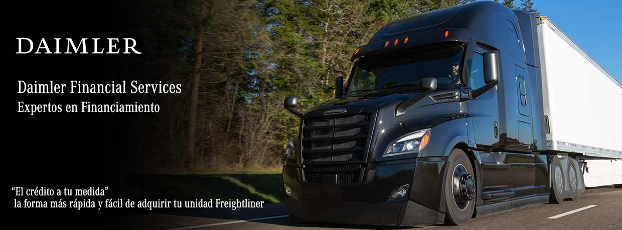 Daimler Financiamiento Freightliner y Mercedes Benz